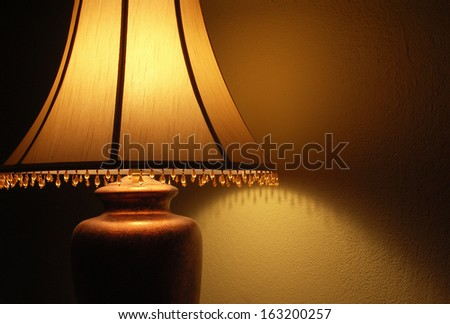 Lamp light - stock photo