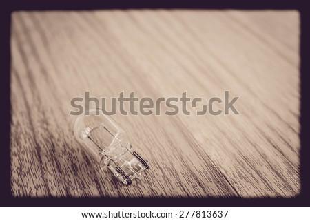 Lamp on the wooden floor vintage. - stock photo