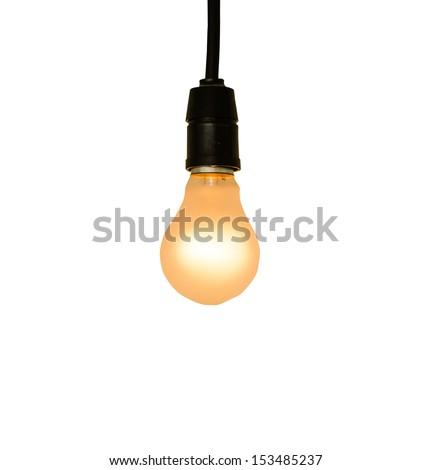 Lamp on white background - stock photo