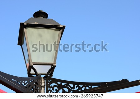 lamp with blue sky - stock photo