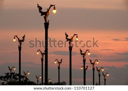 Lamppost . - stock photo