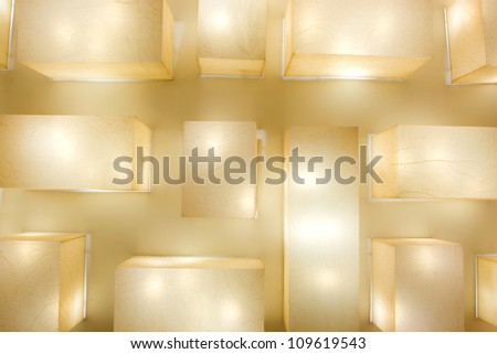 Lamps ceiling - stock photo