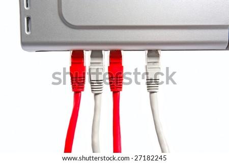 lan equipment isolated - stock photo