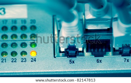 LAN network cables - stock photo