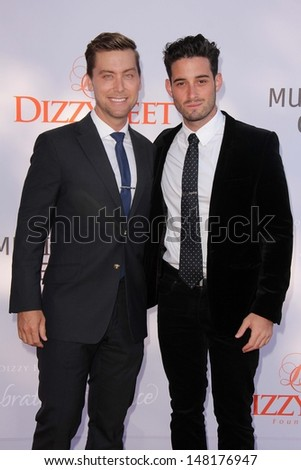 Lance Bass and Michael Turchin at the 3rd Annual Celebration of Dance Gala presented by the Dizzy Feet Foundation, Dorothy Chandler Pavilion, Los Angeles, CA 07-27-13 - stock photo