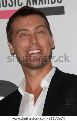 Lance Bass at the American Music Awards Nominations, JW Marriott, Los Angeles, CA 10-11011 - stock photo