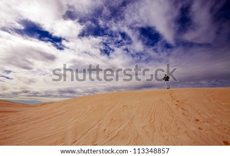 Lancelin sand dunes, We Australia - stock photo