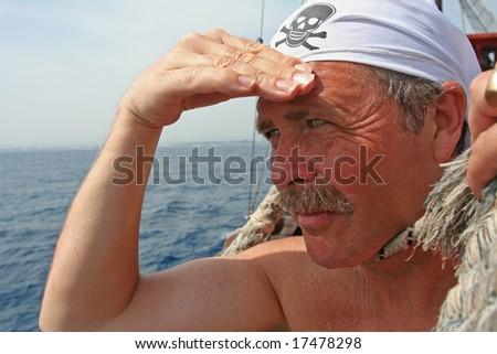 Land Ahoy Shipmates - stock photo