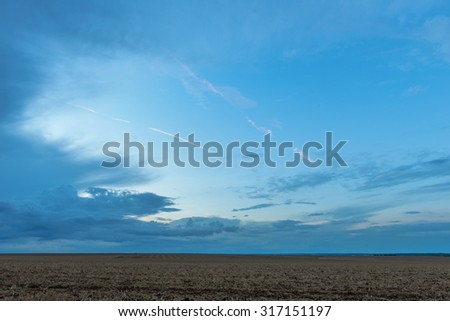 Land, horizon and sky - stock photo