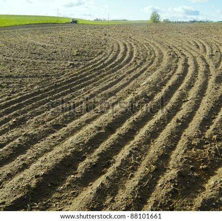 Land lines - stock photo
