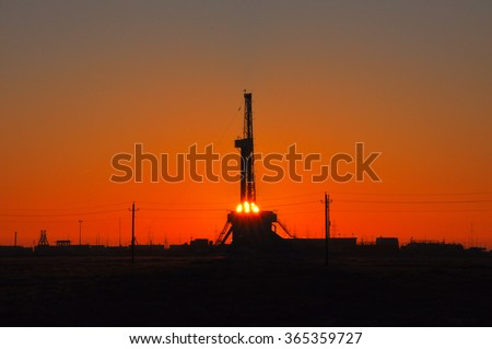 Land Oil Rig - stock photo