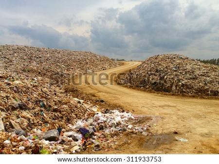 Landfill in Thailand - stock photo