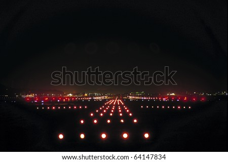 Landing lights - stock photo