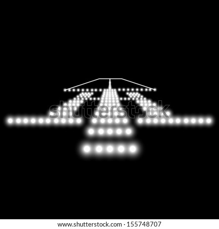 Landing lights.  illustration. - stock photo