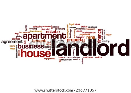 Landlord word cloud concept - stock photo