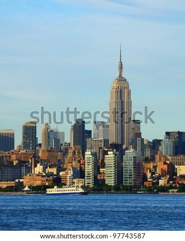 Landmark architecture in midtown Manhattan - stock photo