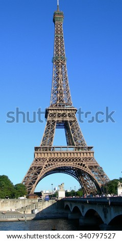 Landmark image of Eiffel Tower in Paris, France - stock photo