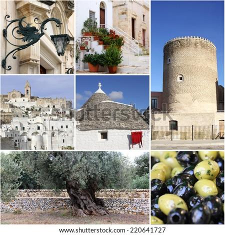 Landmark of Apulia, South Italy  - stock photo