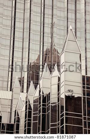 Landmark of Pittsburgh, Pennsylvania. Seen morning time - stock photo