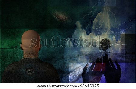 Landscape Abstract - stock photo