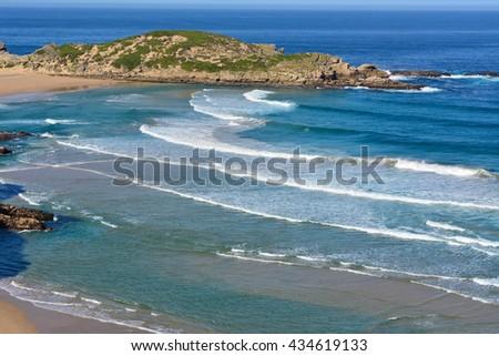 Landscape and Seascape - stock photo