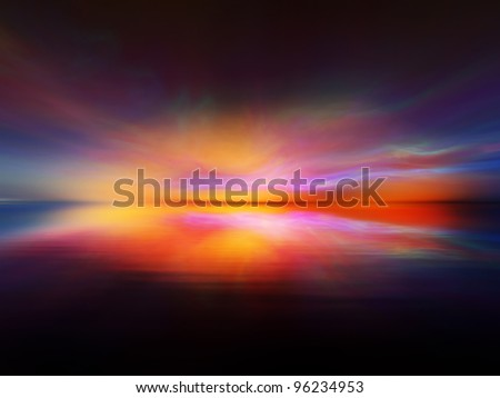 Landscape background suitable as a backdrop for projects on art, music, religion and spirituality - stock photo