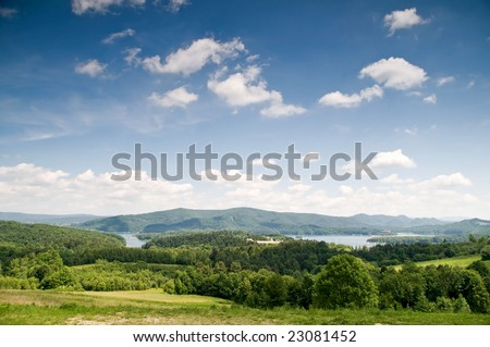 Landscape, Bieszczady, Poland - stock photo