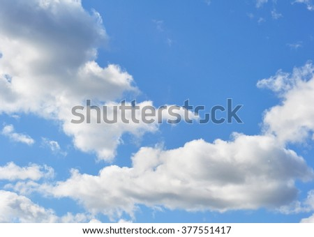Landscape, Blue Daytime Sky with White Clouds, Photo - stock photo