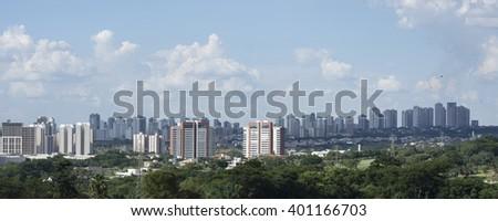 landscape city (Ribeirao Preto - Sao Paulo - Brazil) - stock photo