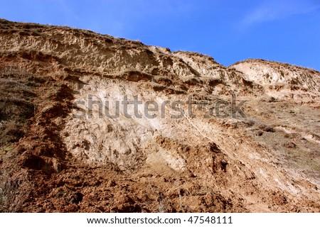 landscape deformation - stock photo