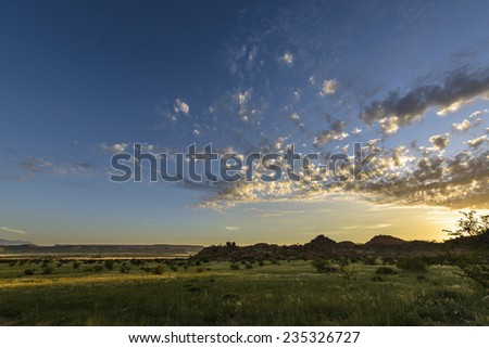 Landscape during Dawn - stock photo