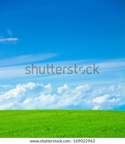 Landscape Field Background  - stock photo