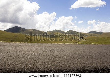 Landscape in Bucegi Mountains, Romania - stock photo