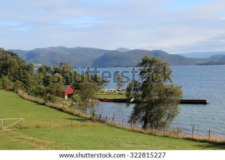 Landscape in south Norway - stock photo