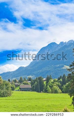 Landscape in the Swiss Alps, Switzerland - stock photo