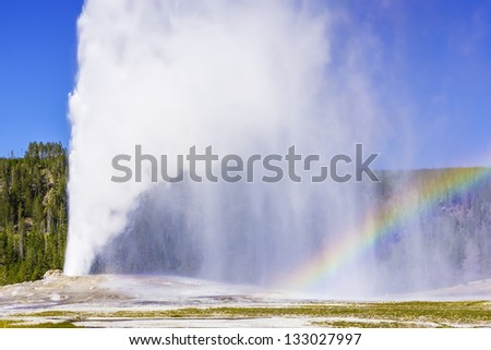 landscape in yellowstone national park, wyoming, USA - stock photo
