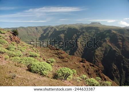 landscape - la gomera - stock photo