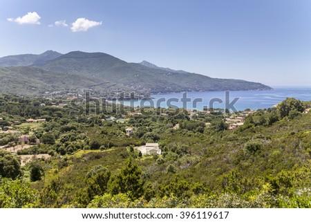 Landscape near Procchio, northern coast, Elba, Tuscany, Italy, Europe - stock photo