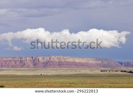 Landscape near Vermilion Cliffs national Monument, Arizona, Usa. - stock photo