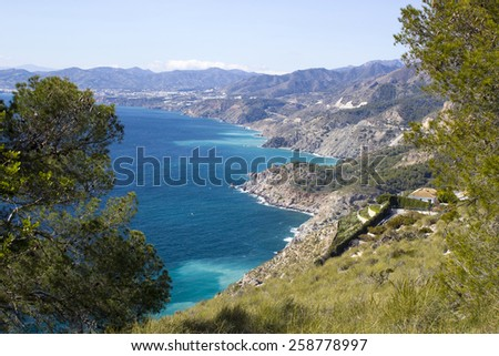 Landscape of Andalusia in Spain - stock photo