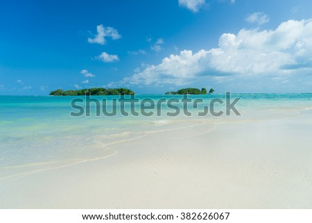 Landscape of Chaweng beach Koh Samui island in Thailand - stock photo