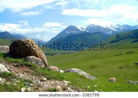 Landscape of Chechen Republic 4 - stock photo