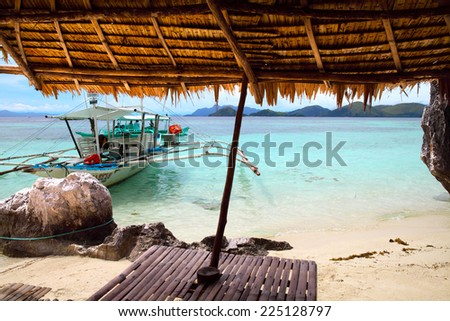 landscape of Coron, Busuanga island, Palawan province, Philippines - stock photo