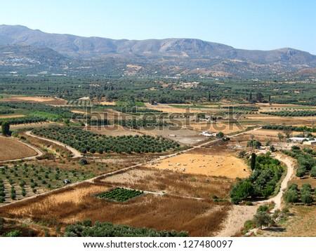 Landscape of Crete, greek island in summer time - stock photo