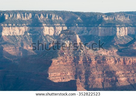 Landscape of exposed stone from the Grand Canyon of Arizona - stock photo