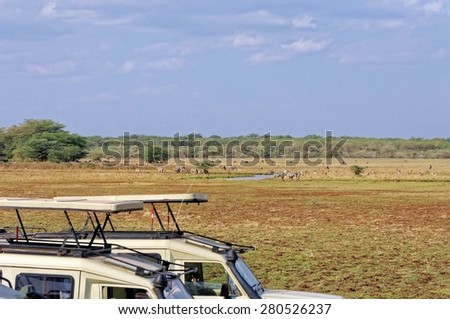 Landscape of Ngorongoro Conservation Area, Tanzania - stock photo