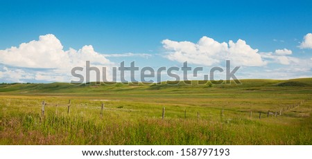 Landscape of rolling hills during the summer. - stock photo