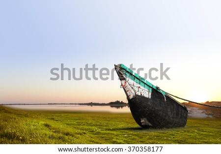 Landscape of Sandwip Island , Located in Bangladesh - stock photo