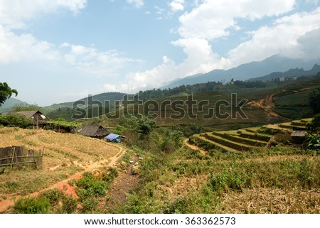 Landscape of Sapa, Vietnam - stock photo