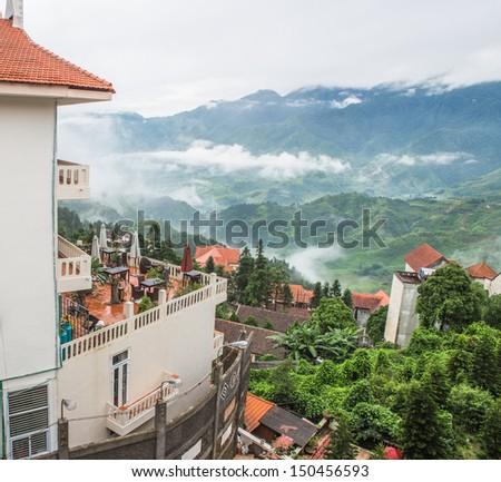 Landscape of sapa village,north of Vietnam - stock photo